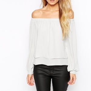 ASOS Long Sleeve Off The Shoulder Top